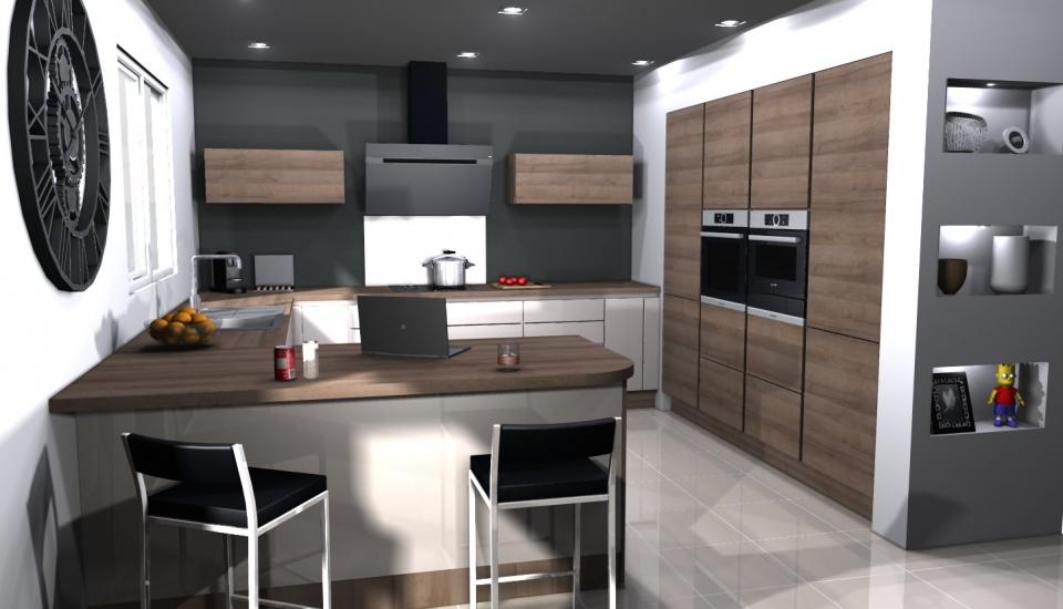 Votre projet eco cuisine sainte genevi ve des bois 91 essonne - Simulateur 3d cuisine ...